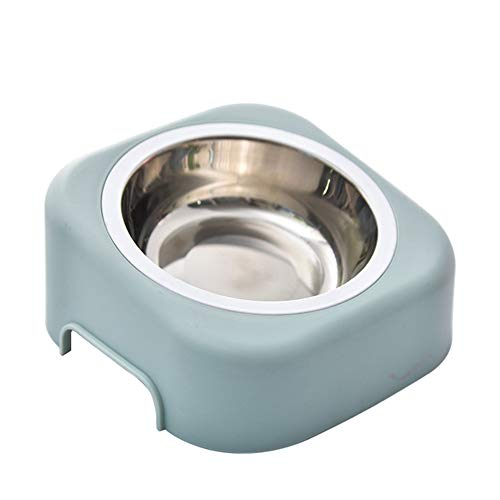 XYBB Voedingautomaat, huisdier, kom, hond, basislegende Pet Feeder, honden, katten, vloeren, water, voer, pupen, kat, feeder, huisdier voeding, 17.5cm, blauw