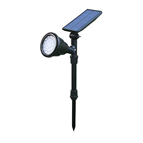 Luz Solar Para Césped, Lámpara De Pared Para Jardín Al Aire Libre, Foco, Foco De Luz, Foco Decorativo, Luz De Jardín [2 paquetes] actualización 18LED / sensor-luz blanca