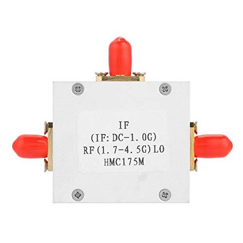 Passive Mixer,HMC175 Passives Doppelwandler Dioden Mixer Diode Frequency Conversion Module,aluminiumlegierung gehäuse LO/RF: 1,7-4,5G ZF: DC-1,0G doppelt abgeglichener abwärtswandler