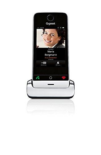 Gigaset SL910H Schnurloses Telefon (zusätzliches Mobilteil für DECT Basisstation, Design Telefon mit Touchdisplay und Echtmetall-Rahmen) pianoschwarz