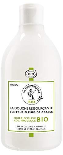 La Provençale - La Douche Ressourçante Senteur Fleurs de Grasse - Gel Douche Certifié Bio - Huile d'Olive Bio AOC Provence - 500 ml