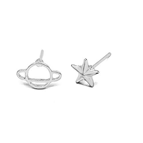 yichahu Nuevo Creative Universe Planet Gun Saturn Space Piercing Pendientes para mujer, joyería de moda