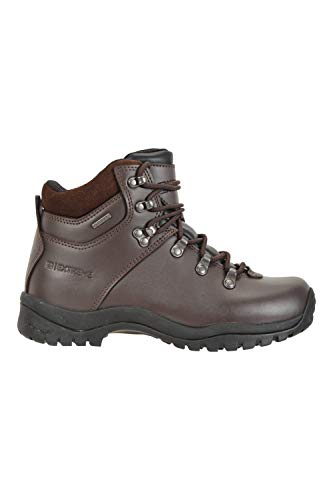 Mountain Warehouse Latitude Mens Vibram Waterproof Boots – Lightweight Walking Shoes, Breathable, Durable, Sturdy Grip…