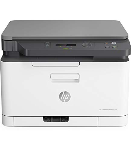 HP Color Laser MFP 178nw - Impresora láser multifunción (imprime, copia y escanea, 18/4 ppm, LED, USB, WiFi), blanco
