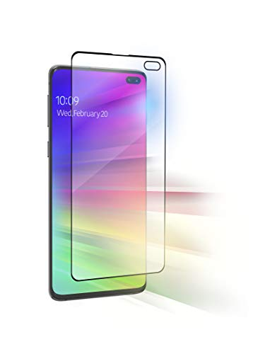 Zagg InvisibleShield GlassFusion VisionGuard per Samsung S10+ - Protezione Schermo in Vetro Ibrido + Filtro per Luce Blu