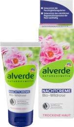 alverde NATURKOSMETIK Nachtcreme Wildrose, 1 x 50 ml