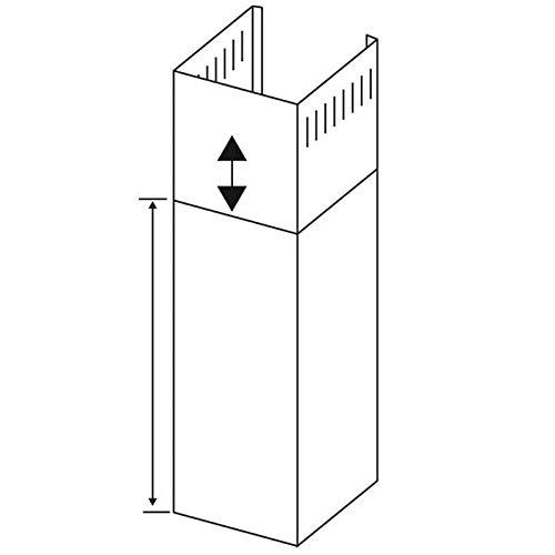 Oranier Schacht Dunstabzugshaube 60 cm Verlängerungsschacht für Wandhaube Kandia 9208 97