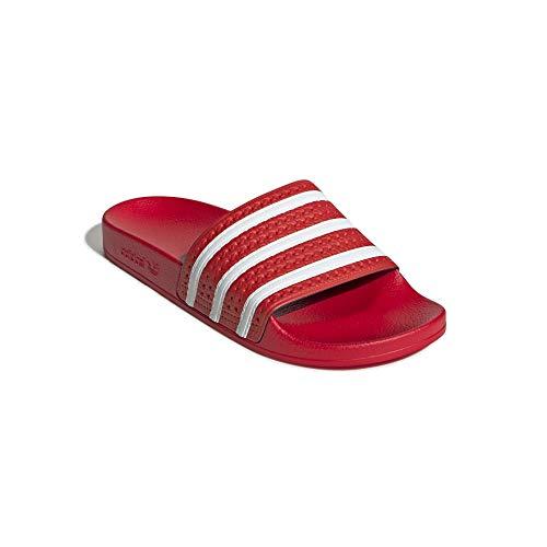 Adidas Women Adilette Badelatschen (red/White, Numeric_46)
