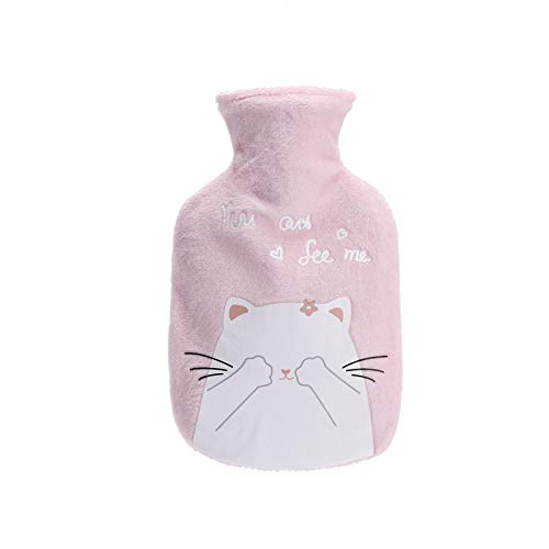 Hot Water Bottle,2Pcs/350MlFlannel Cover Hot Water Bottle, Water Injection Hot Water Bottle, Warm Hand Bag For Girls