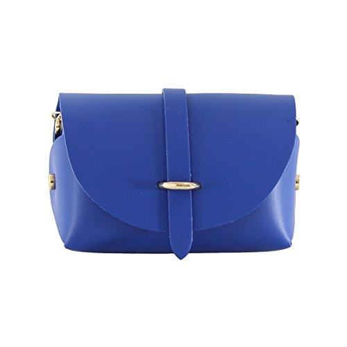 Chicca Tutto Moda CTM Pochette a spalla da Donna, borsetta con tracolla, vera pelle made in Italy - 18x11x9 Cm