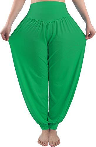 Fitglam Damen-Haremshose, lockerer Sitz, Yoga-Hose, Übergröße, Jogginghose -  Grün -  3X-Groß