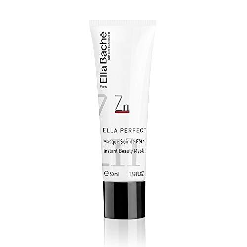 Masque Soir de Fête - Une crème-masque au zinc pore refiner et kaolin anti-grise mine pour une mise en beauté express et un effet anti-fatigue - Favorise la tenue du maquillage - Made in France - 50ml