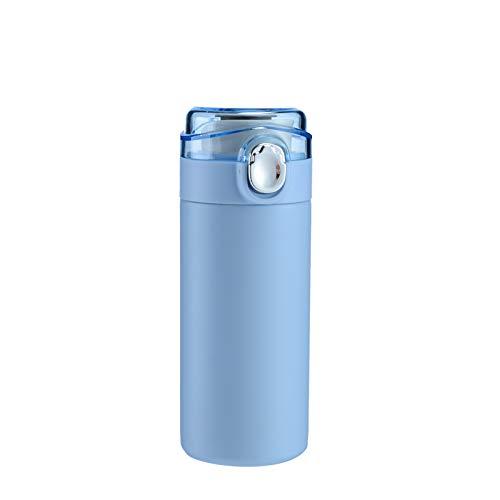 Xiaobing Frasco de vacío de Acero Inoxidable para Hombres y Mujeres, Taza de Agua, Taza de Guisante portátil, Taza Que rebota -Sky Blue-300ML