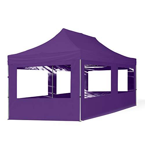 TOOLPORT Faltpavillon Faltzelt 3x6m - 4 Seitenteile ALU Pavillon Partyzelt violett Dach 100{d0fa81d69175f45df9772b011744222a713e6248f8ee532ddd4726e73904e925} WASSERDICHT