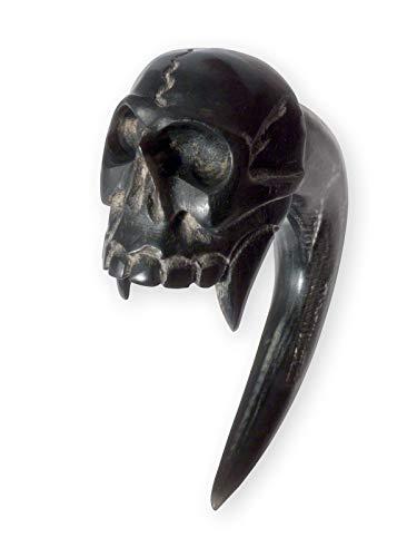Fly Style Expander Klaue Vampir Schädel aus Horn, Grösse:6 mm