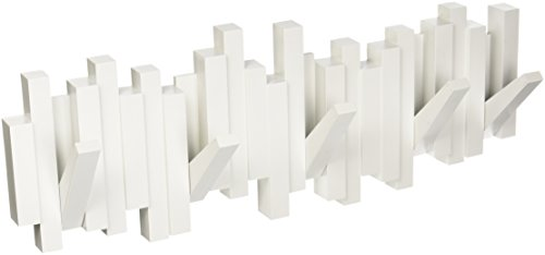 Umbra 318211-660 Perchero decorativo de pared Sticks, Blanco
