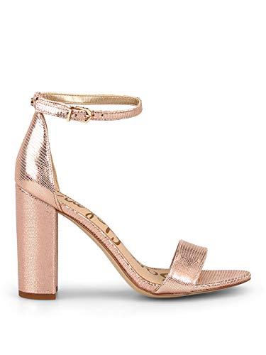 Luxury Fashion | Sam Edelman Dames E85116L934YAROBLUSHGOLD Roze Leer Sandalen | Seizoen Outlet