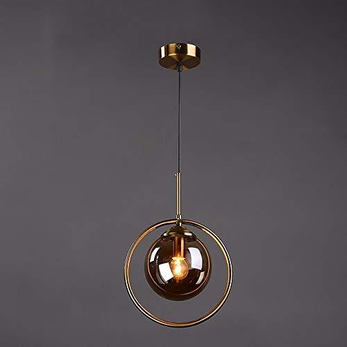 DULG Nórdico Moderno Industrial de la lámpara de Cristal C