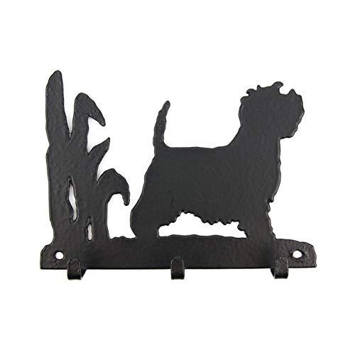 Tierisch-tolle Geschenke Westie - West Highland White Terrier Leinengarderobe - Schlüsselbrett - Garderobe mit H&emotiv