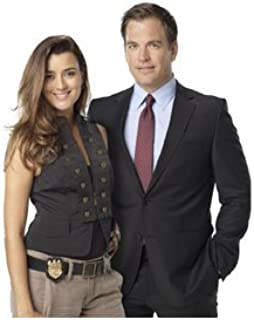 Michael Weatherly 8 Inch x10 Inch Photo Cote de Pablo NCIS standing together