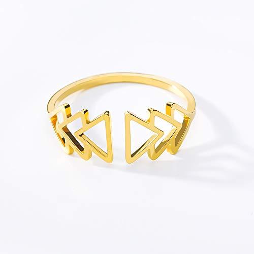 Frauen Schmuck Offen Verstellbare Stapel Dreiecke Ringe Für Frauen Männer Edelstahl Weihnachtsbaum Ringe Geschenk