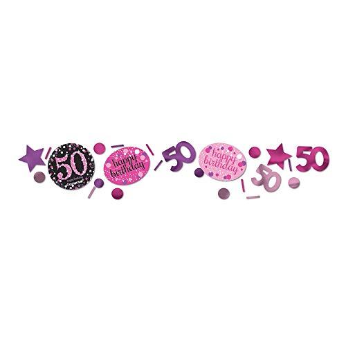 amscan 9900610 Konfetti 50 Pink