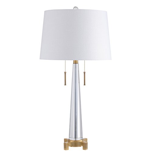 2-Light Crystal LED Table Lamp Contemporary Style