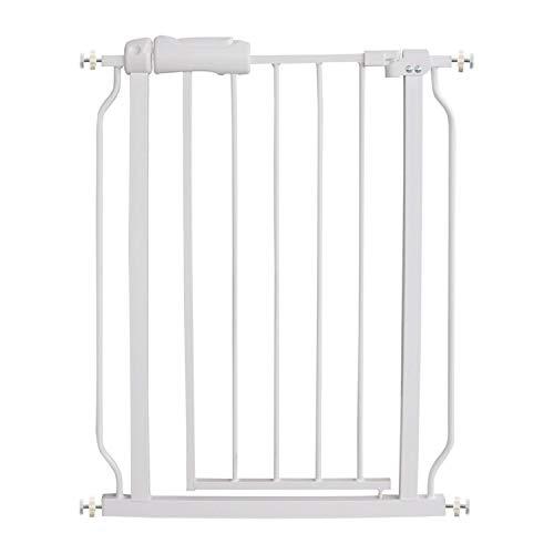 AIKSSOO Puerta de metal de seguridad para bebés de 61 cm a 74 cm, color blanco