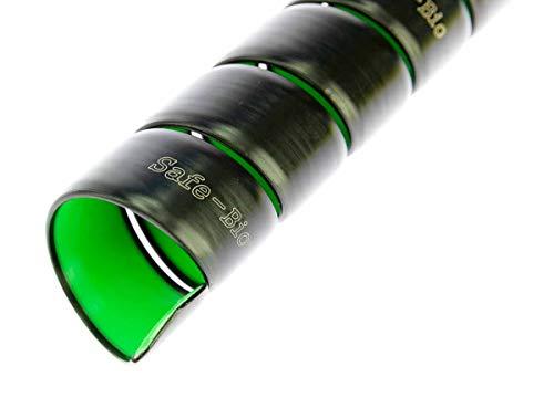 Safeplast BIO Safe-Spirale Schlauchschutz-Spirale Ø 25 mm, Kabelspirale, schwarz-grün, 6m lang