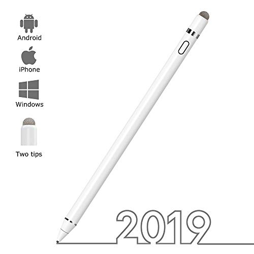 Stylus Pen for iPad, Zspeed Capacitive Rechargeable Digital Pen for Touch Screens Compatible with iPad and Most Tablet & Cellphone, Good for Drawing &Writing