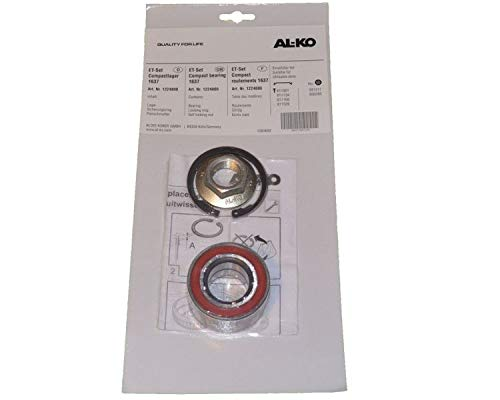 1 x ALKO wiellager 1224800 lager 60/30x37 mm + toebehoren - compacte lager eco-lager