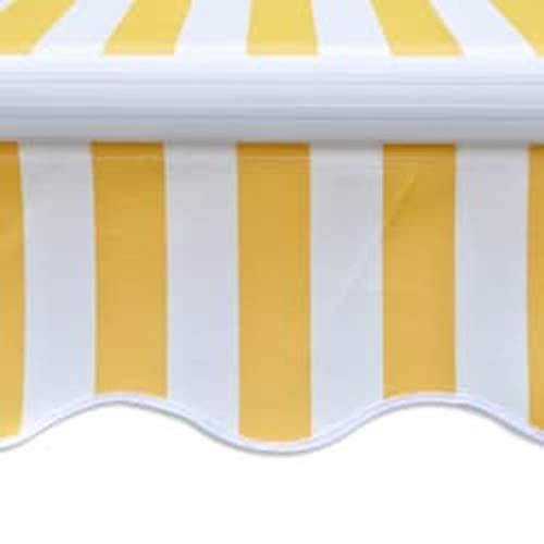 Tidyard Elektrische Gelenkarmmarkise Markise -Einstellbarer Neigungswinkel:45 °,Sonnenmarkise Sonnenschutz 270 g/m² Motorisiert 600cm Marineblau und Weiß/Creme/Gelb und Weiß/Anthrazitgrau