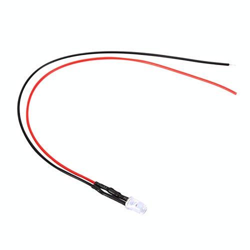 Ahorro de energía 10 pcs Diodo cableado 20 Diodo emisor de luz cableado para LED emisor de luz(White hair pink)