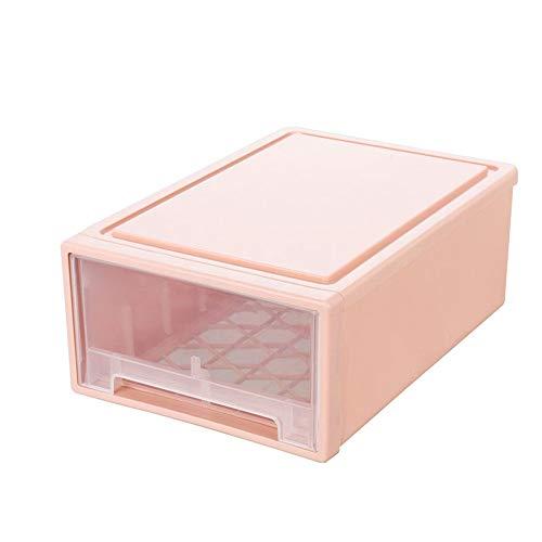 Ondergoed Storage Box Lade Soort Huishoudelijke Garderobe Kast Ondergoed Sokken Bra Drie-in-één Slaapzaal Afwerking Box 40 * 27,8 * 15cm (Color : Pink, Size : 40 * 27.8 * 15cm)