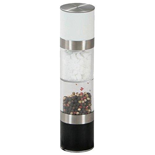 Kesper 13696 Pfeffer- und Salzmühle mit 2 Mahlwerken aus Kunststoff / Edelstahl