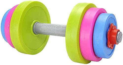 Barra de trazado Antideslizante Dumbbell Diversión y Colorido para niños Juego de Mancuernas Ajustables Dumbbell Juguete de Juguete Playa de llenado o Agua Ajustable - Fitne Beach Toys