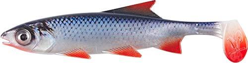 Balzer Shirasu Clone Shad - Gummifisch zum Spinnfischen auf Hechte, Zander & Barsche, Gummiköder, Gummishad, Hechtköder, Softbait, Länge:9cm, Farbe:Roach