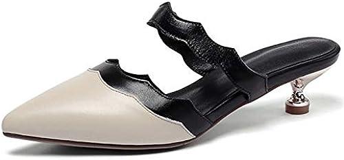 HommesGLTX Talon Aiguille Talons Hauts Sandales 2019 femmes Pumps Pumps Mixed Couleurs Slip on Summer chaussures Fashion Party Prom chaussures Woman Mules chaussures  acheter des rabais