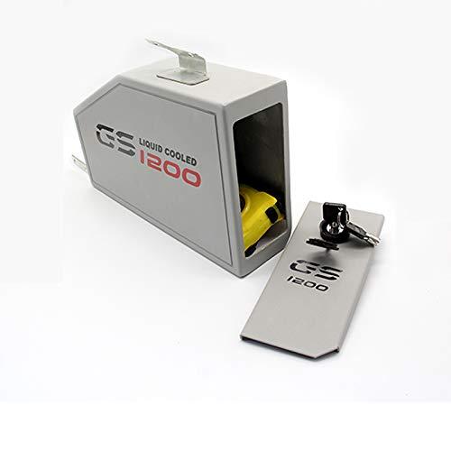 Caja de Herramientas de Acero Inoxidable Resistente al Agua de 4,2 L Caja de Soporte Izquierdo para BMW R1200GS R1200ADV R1250GS R1250ADV 2013-2018 (R1200 ADV)
