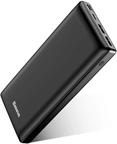 USB C Fast Battery Pack Charger, Baseus Portable Power Bank 30000mAh, 3 Output Portable Charger for iPhone 12 Pro Max, Samsung S20, Android Phones, iPad, Nintendo Switch