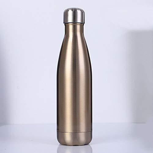 ZXZXZX Botella Agua Acero Inoxidable, Aislamiento al vacío, 1000ml/ 1500ml/ 1800ml a Prueba de Fugas, para Mantener el frío y Bebidas Calientes, para Deportes al Aire Libre, Camping