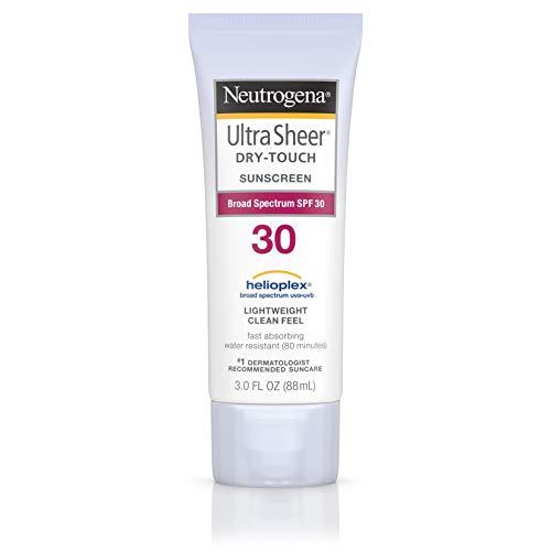 Neutrogena Ecran solaire sec au toucher Ultra Sheer - Protection UVA/UVB à large spectre - SPF 30 - 88 ml