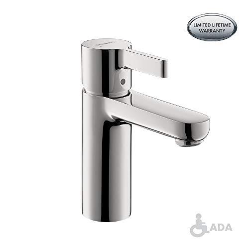 hansgrohe Metris S Modern 1-Handle 6-inch Tall Bathroom Sink Faucet in Chrome, 31060001