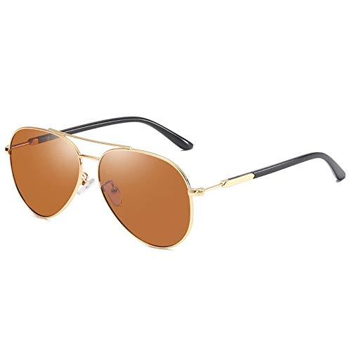 KDOAE Gafas de Sol Deportivas Los Hombres de Color Gafas de Sol polarizadas Gafas de Sol polarizadas de conducción del Sapo Hombres Mujeres (Color : Brown, Size : One Size)