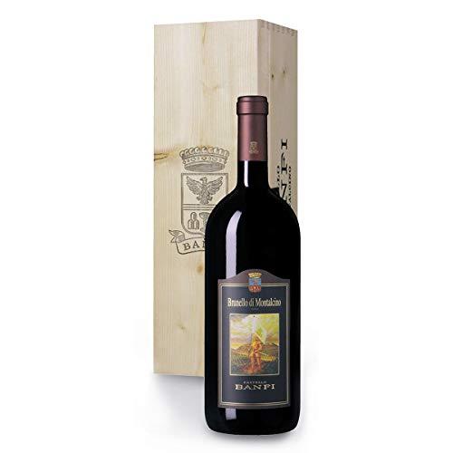 Brunello di Montalcino DOCG Banfi da 1,5 Litri in Originale Cassetta Legno - Regalo Vino Pregiato dalla Toscana - cod 238