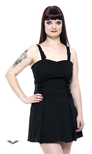 Queen of Darkness - Little Black Dress with Studs and Buckle L/Black