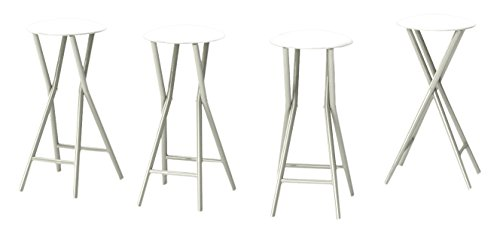 Best of Times Bar Stools, White, Set of 4