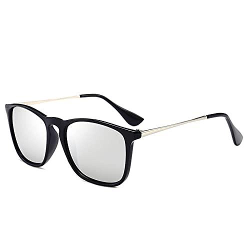 N\C Gafas de Sol Gafas de Sol polarizadas Gafas de Sol Retro para Mujer Espejos de conducción Sencillos para Hombre
