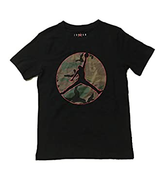 Jordan Logo Boys  Camouflage T-Shirt Black Small  8-10 Years