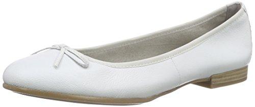Tamaris Damen 22116 Geschlossene Ballerinas, Weiß (White 100), 38